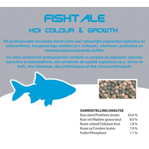 Fishtale color et growth 3mm en 7kg